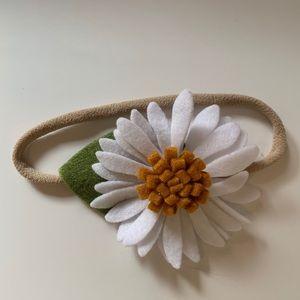 Other - Flower felt bow | NWOT